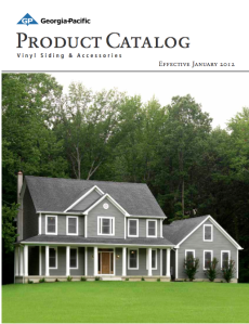 Georgia-Pacific Vinyl Siding Full Line Catalog