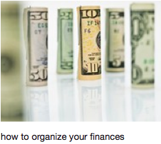 Organize your Finances